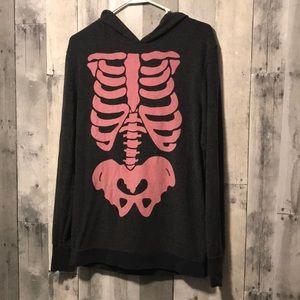 Skeleton Hooded Wildfox Sweatshirt
